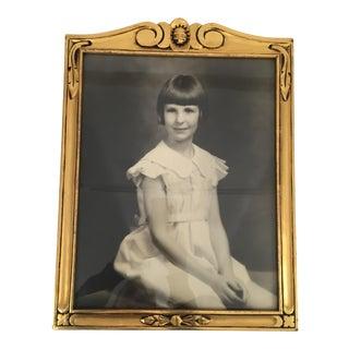 Gold Framed Art Deco Portrait of a Girl