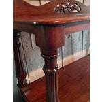 Image of Antique English Mahogany Rolling Buffett