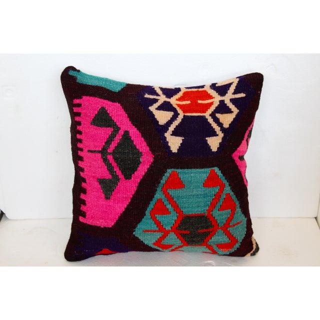 Neon Turkish Kilim Cushions - Pair - Image 4 of 7
