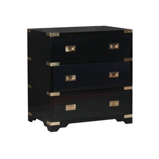 Selamat Designs Chiba Ebony Lacquer Bedside Chest
