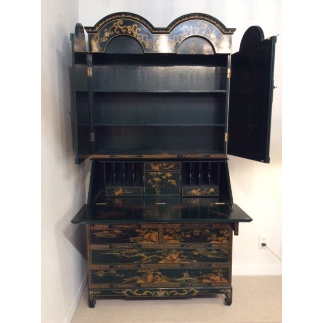 Image of Vintage Chinoiserie Chippendale Secretary