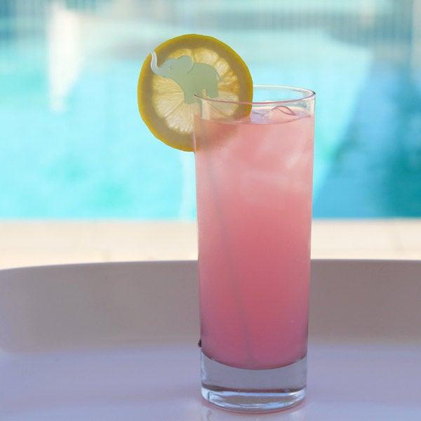 Image of Hot Pink Elephant Drink Stirrers - Set of 6