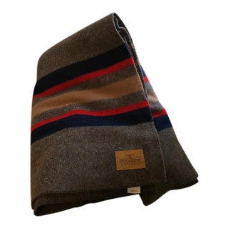 Striped Pendleton Wool Blanket