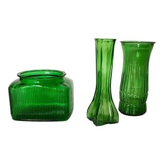 Hunter Green Vases - 3