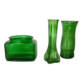 Hunter Green Vases - 3