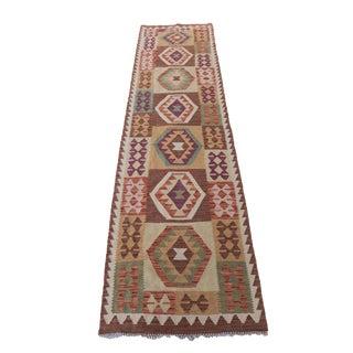 "Afghani Vegetable Dye Handmade Kilim - 2'5"" x 9'5"""