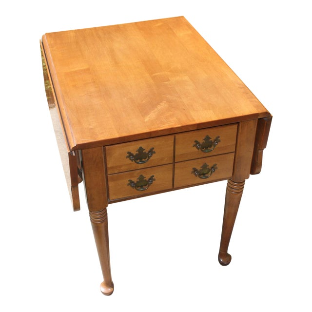 Vintage Queen Anne Style Drop Leaf Side Table - Image 1 of 5