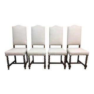 Reupholstered Barley Twist Chairs - Set of 6