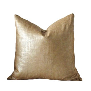 Gold Copper Linen Pillow Cover
