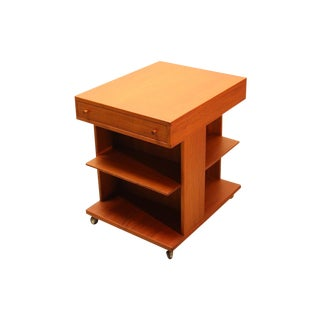 Ingvard Jensen Danish Modern Teak Side Table Cart