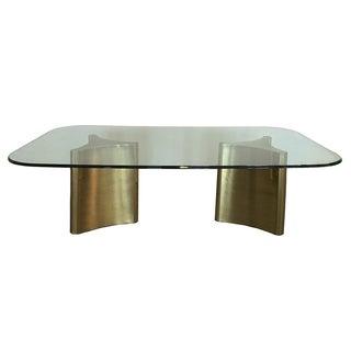 Mastercraft Brass Pedestal Dining Table