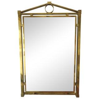 La Barge Mid-Century Brass Mirror