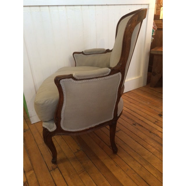 Image of 18th Century Hand Carved French Bergere Chair
