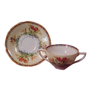 Vintage Crown Ducal Cream Soup/Boullion Cup and Saucer