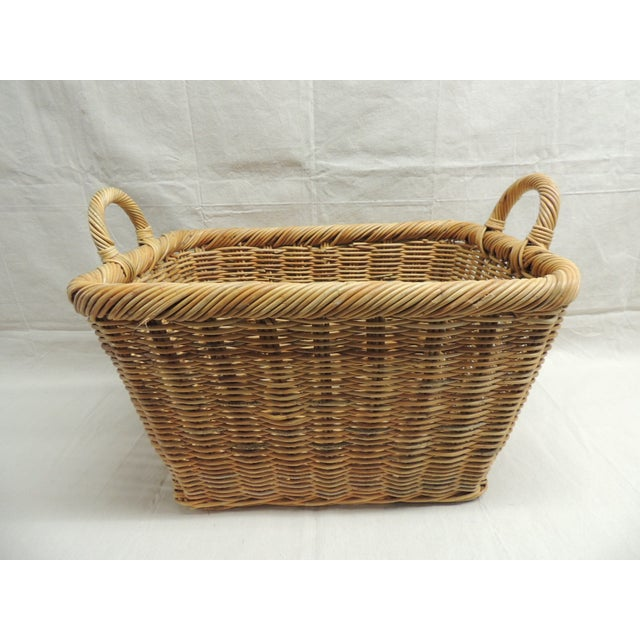 Vintage Wicker Laundry Basket - Image 2 of 4
