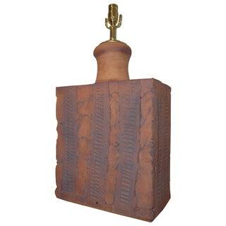 Wishon-Harrell Brutalist Ceramic Lamp