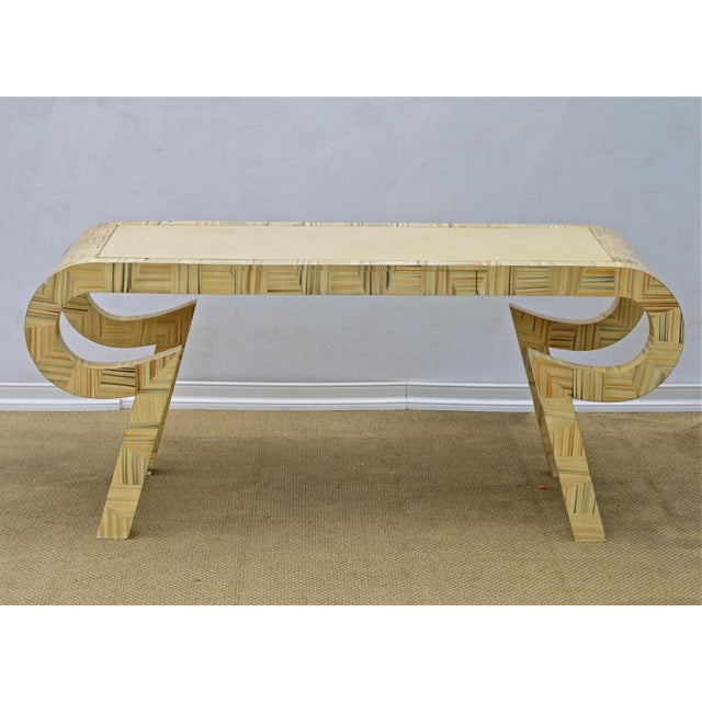 Alessandro Painted & Lacquered Console / Desk for Baker Furniture - Image 3 of 11