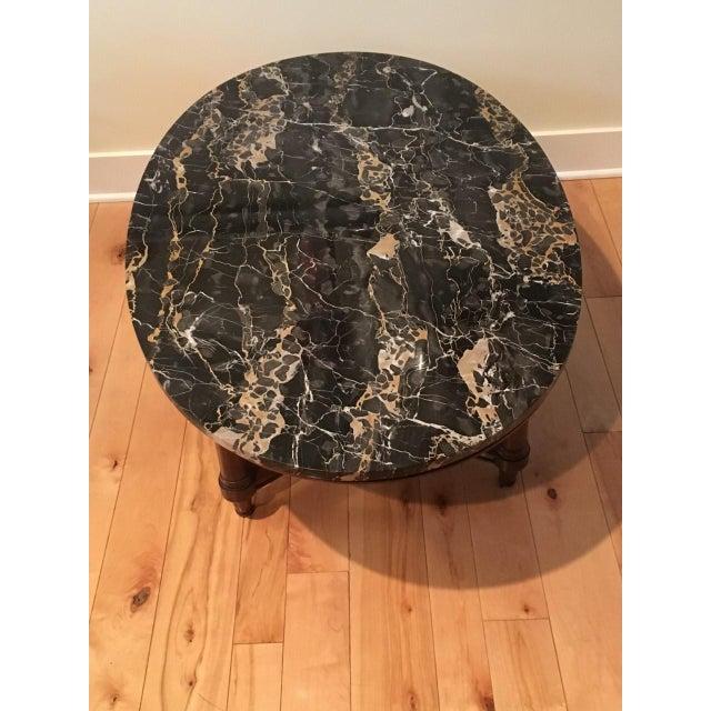 Marmi DI Carrara Marble Oval-Shaped Coffee Table - Image 4 of 5