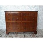 Image of Vintage Georgian 8-Drawer Mahogany Dresser