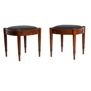 "Pair of ""Bissen"" Style Stools"
