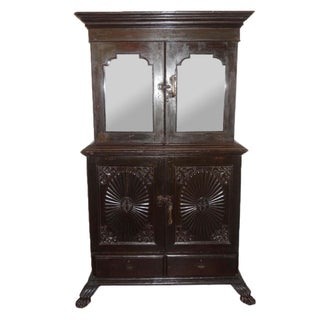 Antique Carved Colonial Cabinet
