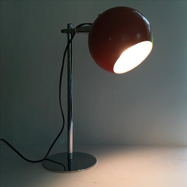 Orange Vintage Mid-Century Eyeball Lamp - Image 3 of 8