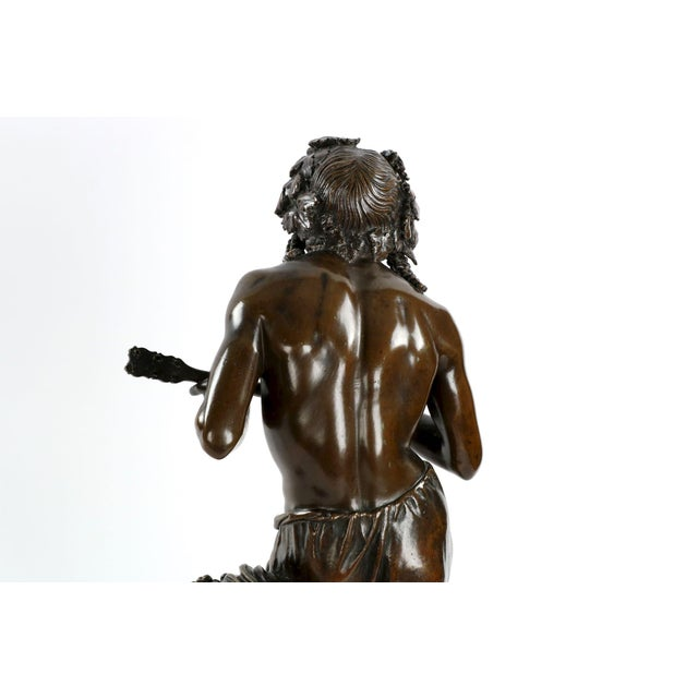 "François-Joseph Duret ""Improvisateur"" Bronze Sculpture - Image 5 of 10"