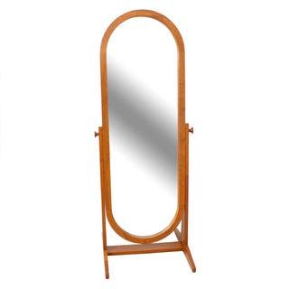 Full-Length Teak Danish Modern Cheval Mirror