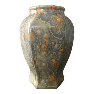 Blue and Beige Ceramic Vase