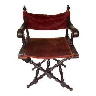 Antique Victorian Gothic Revival Folding Chair