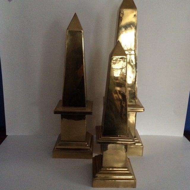 Image of Brass Obelisks - Set of 3