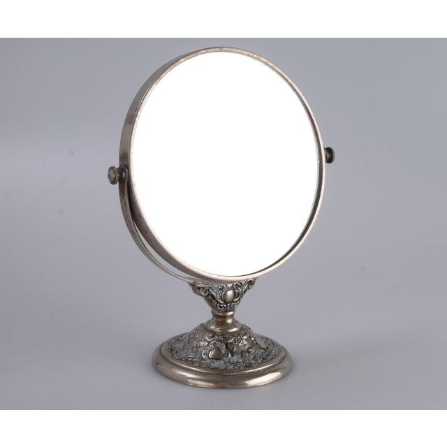 Silver-Plate Vanity Mirror - Image 9 of 9