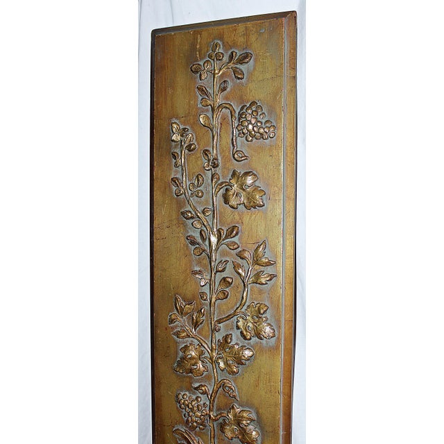 Gold Wall Paneling : Carved gold wall panel chairish