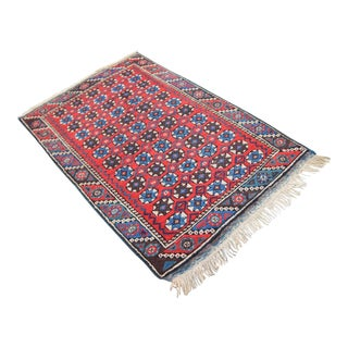 """Antique Tribal Oushak Hand Knotted Turkish Rug - 2'5"""" X 3'8"""""""