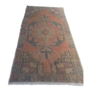 Vintage Turkish Oushak Carpet - 4′ × 7′10″