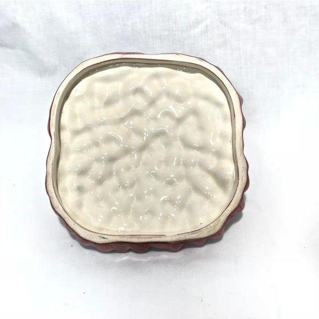 Portuguese Majolica Ceramic Asparagus Handled Container - Image 7 of 8
