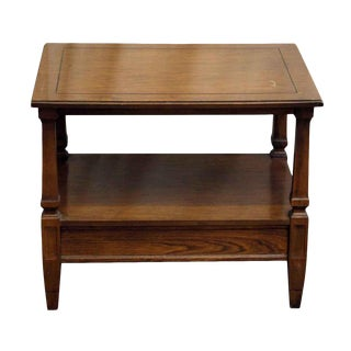 Detailed Rectangular Wood Coffee Table
