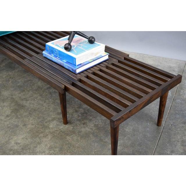 John Keal for Brown Saltman Mid-Century Expandable Slat Bench or Table - Image 7 of 10