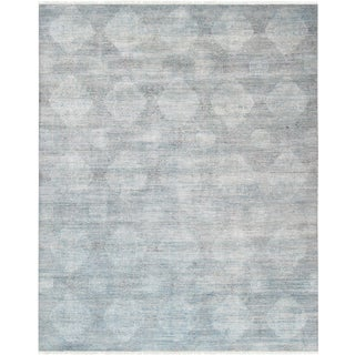 Pasargad Transitiona Silk & Wool Area Rug - 7′11″ × 10′