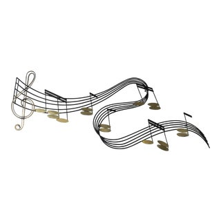 Curtis Jere Metal Musical Notes Wall Sculpture