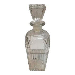 Vintage Cut Glass Scotch Decanter