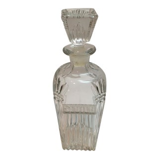 Vintage Cut Glass Scotch Decanter