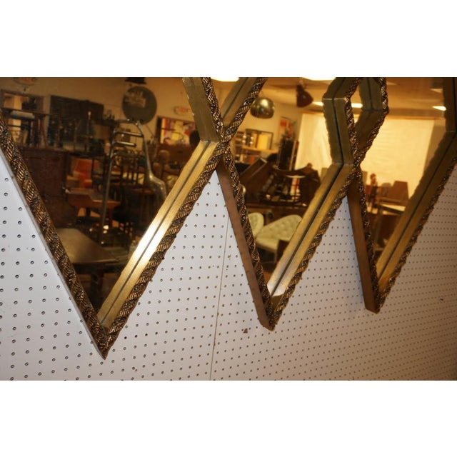 Art Deco Diamond Wall Mirror - Image 5 of 5