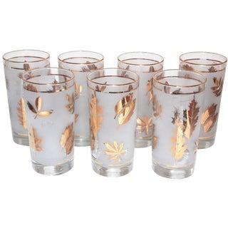 Libby Leaf Glasses - Set of 7