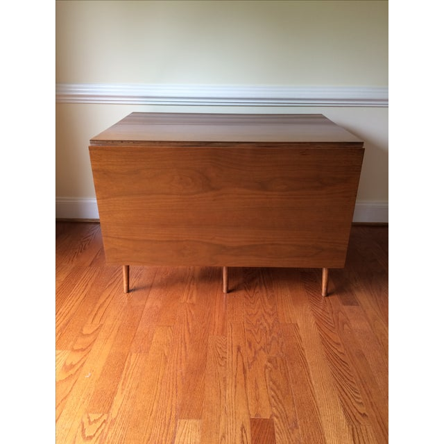 Mid-Century Expandable Drop Leaf Dining Table - Image 6 of 9