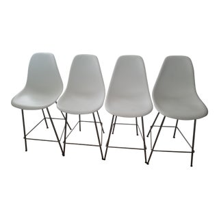 Eames Molded Plastic Shell Counter Stools - Set of 4