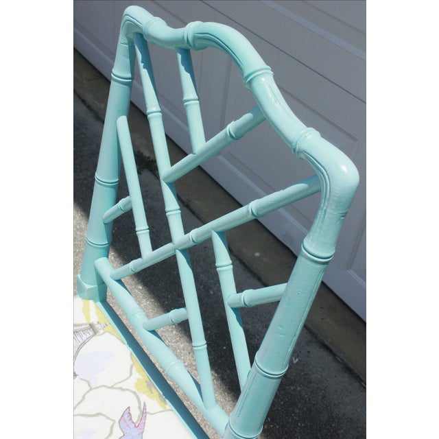 Vintage Faux Bamboo Chinese Chippendale Chair - Image 5 of 7