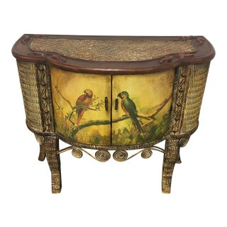 Wicker & Wood Tropical Painted Cabinet