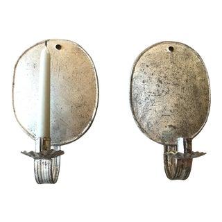 Handmade Tin Sconces - A Pair