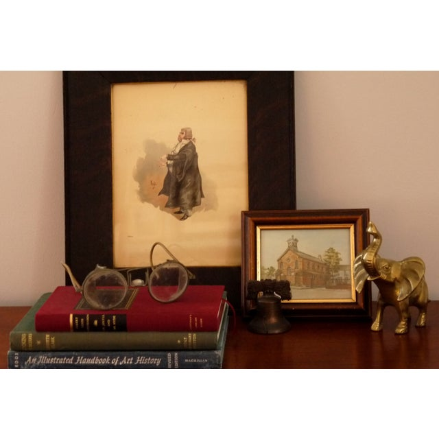 Image of Framed 'Your Honor' Judge Print